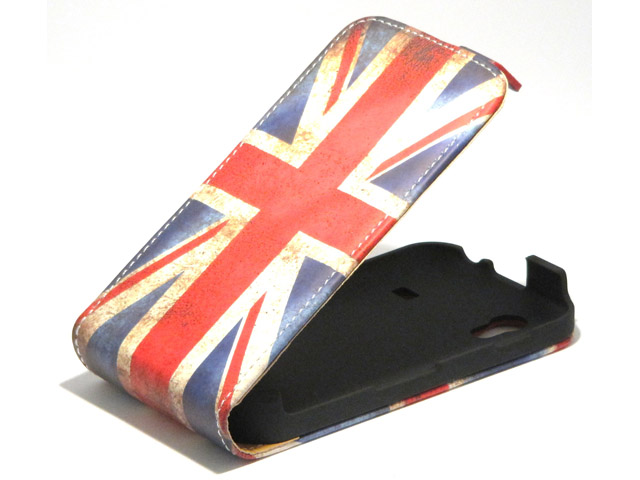 Great Brittain Vintage Flip Case voor Samsung Galaxy Ace (S5830)
