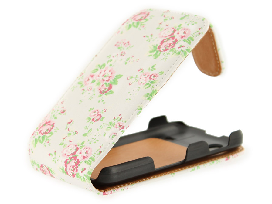 Flower Flip Case voor Samsung Galaxy Ace (S5830)