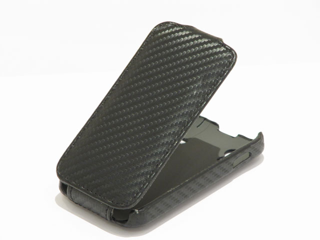 Carbon Slimline Leather Case Samsung Galaxy Ace S5830