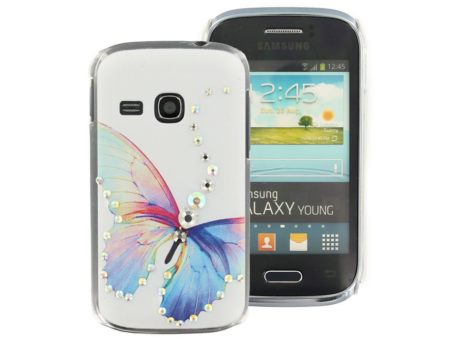 Butterfly Diamond Case Hoesje voor Samsung Galaxy Young (S6310)