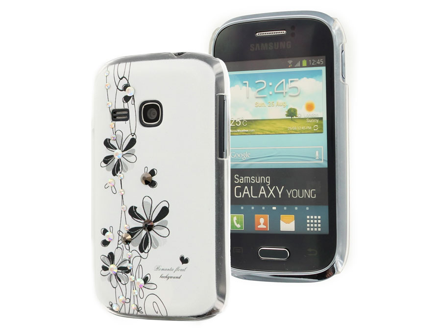 Floral Diamond Case - Samsung Galaxy Young S6310 Hoesje