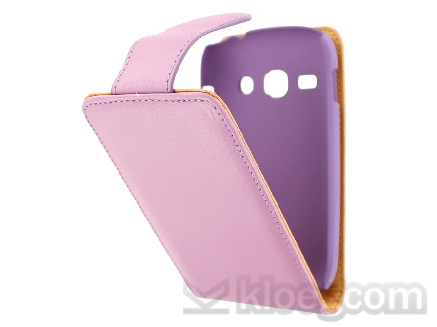 Classic Leather Case voor Samsung Galaxy Fame (S6810)