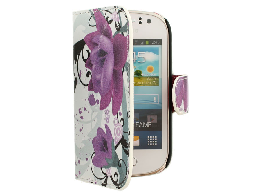 Big Flower Wallet Case voor Samsung Galaxy Fame (S6810)