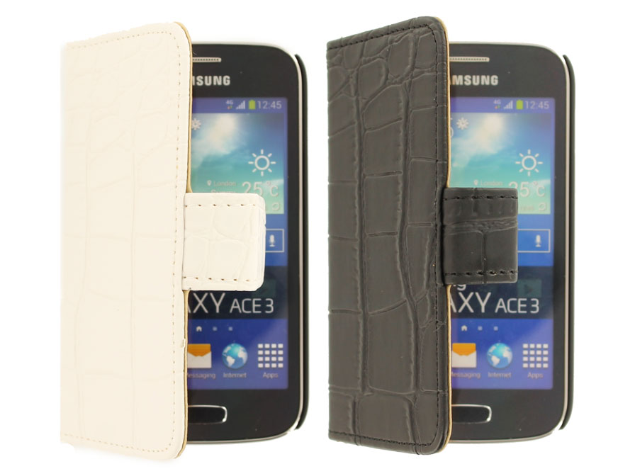 Croco Book Case Hoesje voor Samsung Galaxy Ace 3