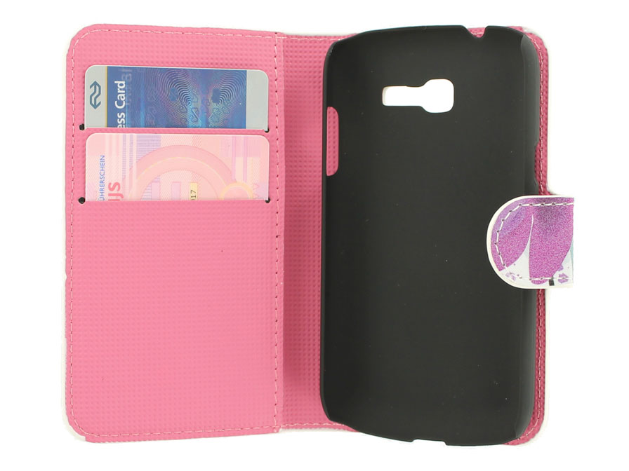 Big Flower Wallet Case voor Samsung Galaxy Trend Lite