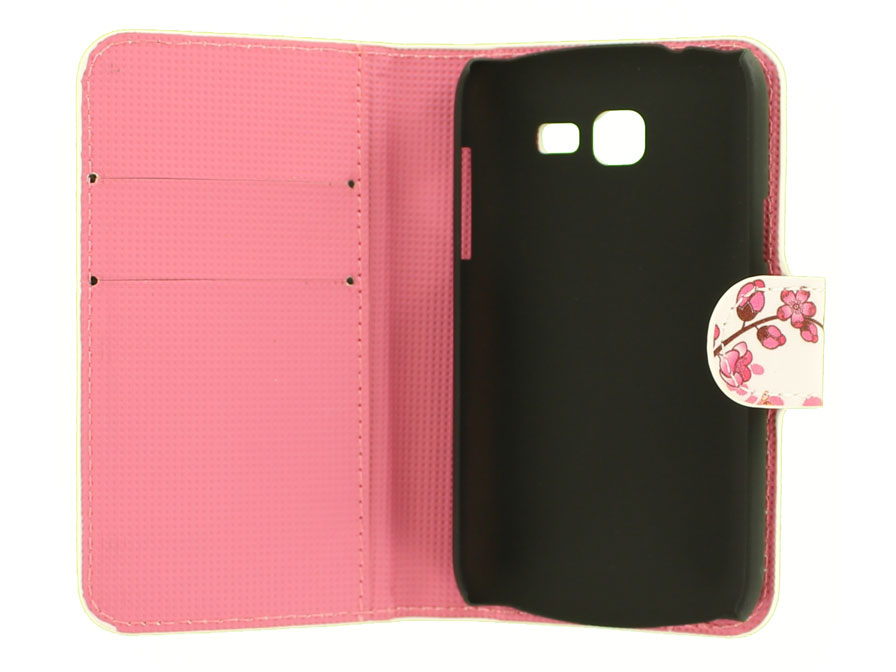 Chinese Blossom Wallet Case voor Samsung Galaxy Trend Lite