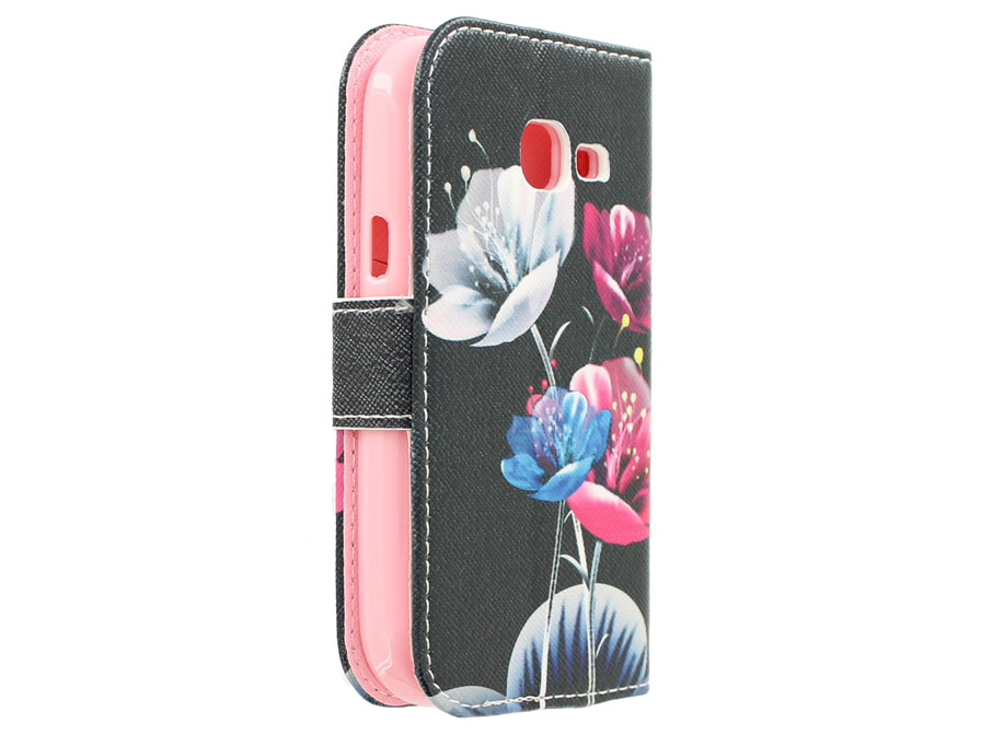 Beautiful Flowers Book Case - Samsung Galaxy Trend Lite Hoesje