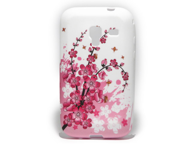 Chinese Blossom TPU Skin voor Samsung Galaxy Ace Plus (S7500)