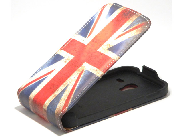 Great Brittain Vintage Flip Case voor Samsung Galaxy Ace Plus (S7500)