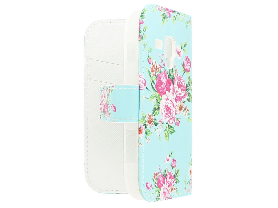 Flower Book Case Hoesje voor Samsung Galaxy Trend Plus
