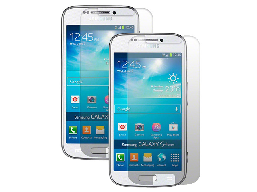 2-pack Clear Screenprotector Samsung Galaxy S4 Zoom (SM-C101)
