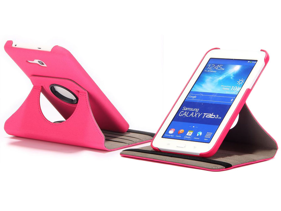 Color Canvas Swivel Case - Hoes voor Samsung Galaxy Tab 3 7.0 Lite