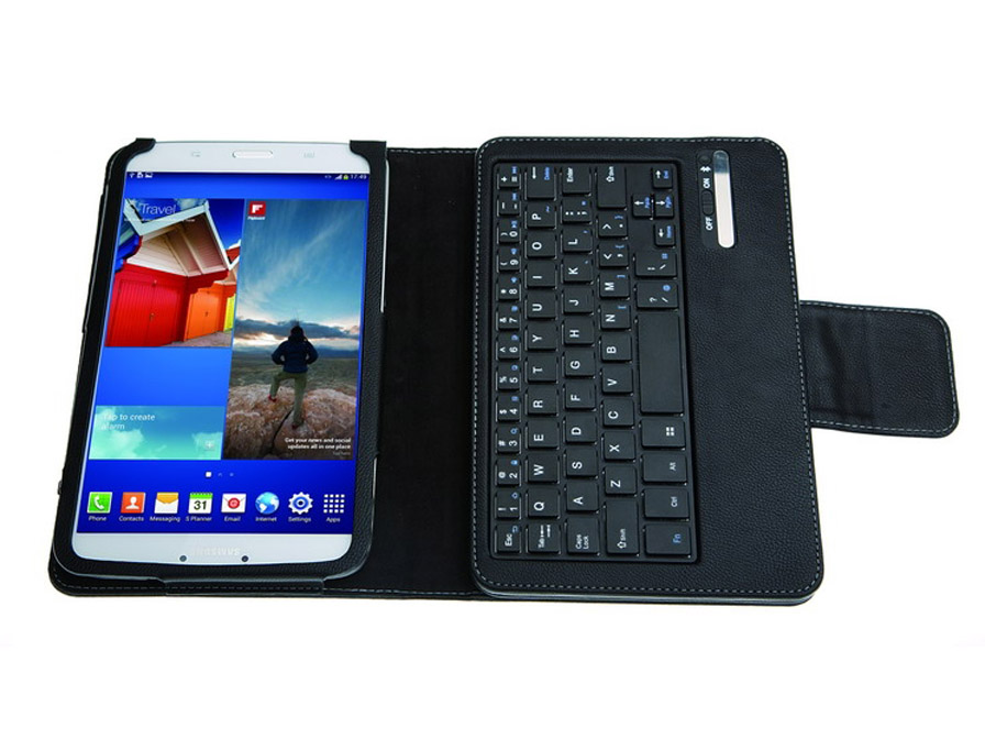 Bluetooth Keyboard Folio Case voor Samsung Galaxy Tab 3 (8.0)