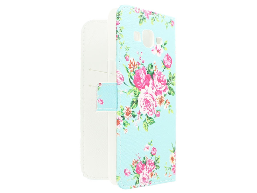 Flower Book Case - Samsung Galaxy Grand Prime Hoesje