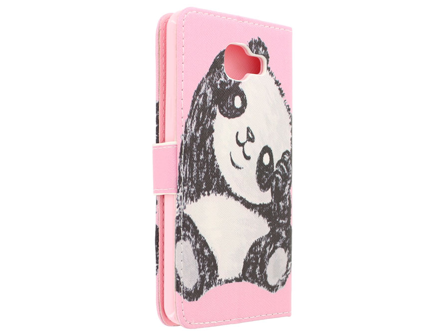 Cute Panda Book Case - Samsung Galaxy A3 2016 hoesje
