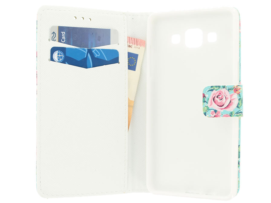 Flower Book Case - Samsung Galaxy A5 2015 hoesje