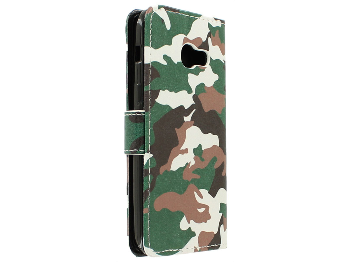 Camouflage Bookcase - Samsung Galaxy A5 2017 hoesje