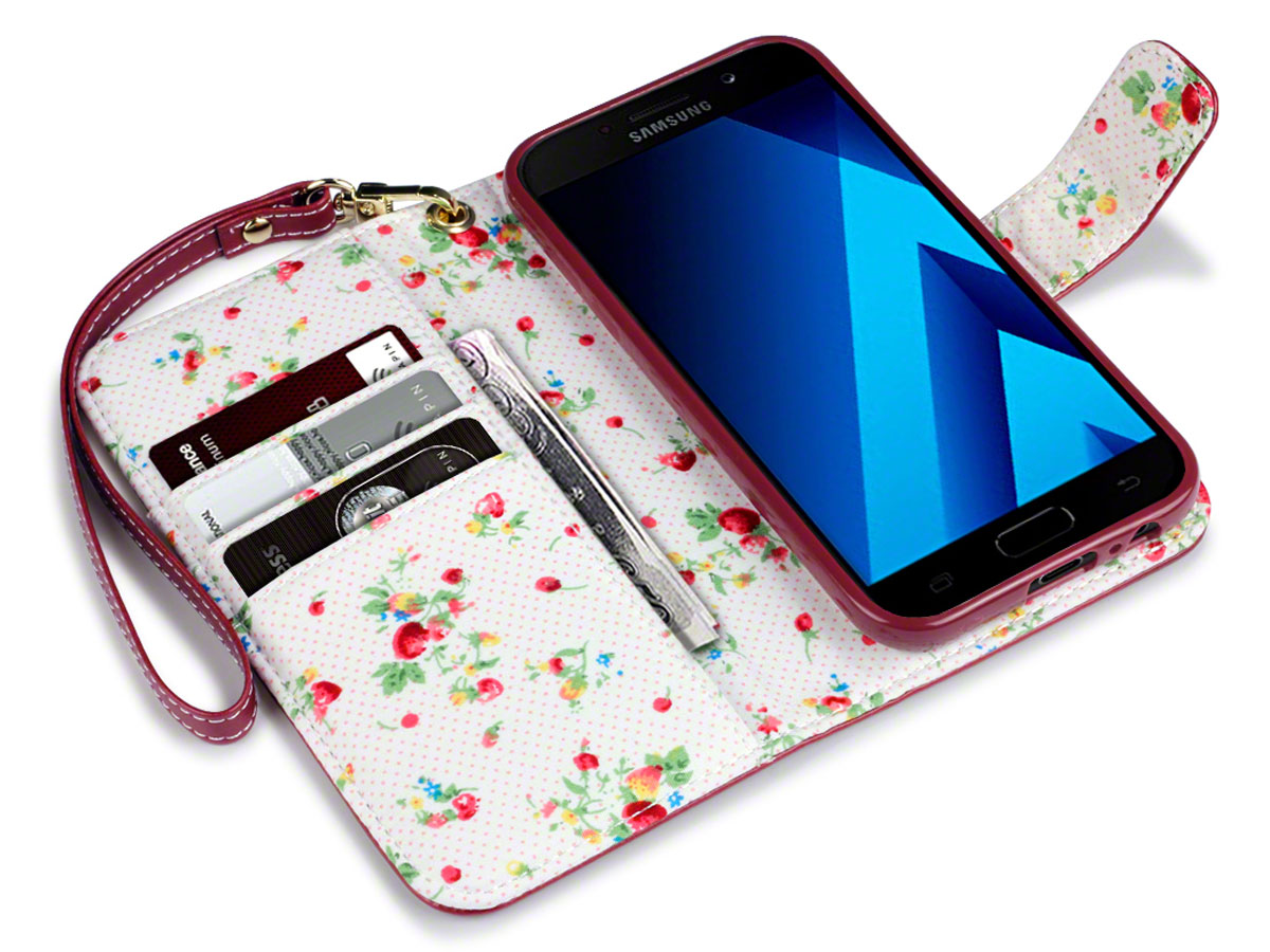CaseBoutique Flower Book - Samsung Galaxy A5 2017 hoesje