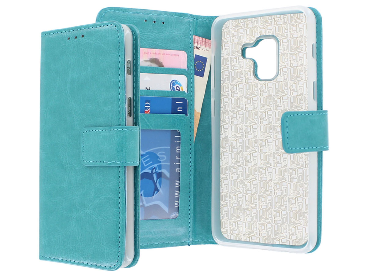 Bookcase Turquoise - Samsung Galaxy A8 2018 hoesje