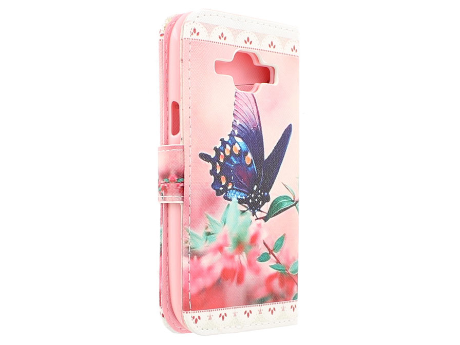Butterfly Book Case - Samsung Galaxy J1 2015 hoesje