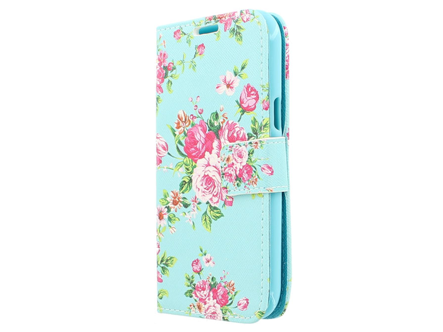 Flower Book Case - Samsung Galaxy J1 2015 hoesje