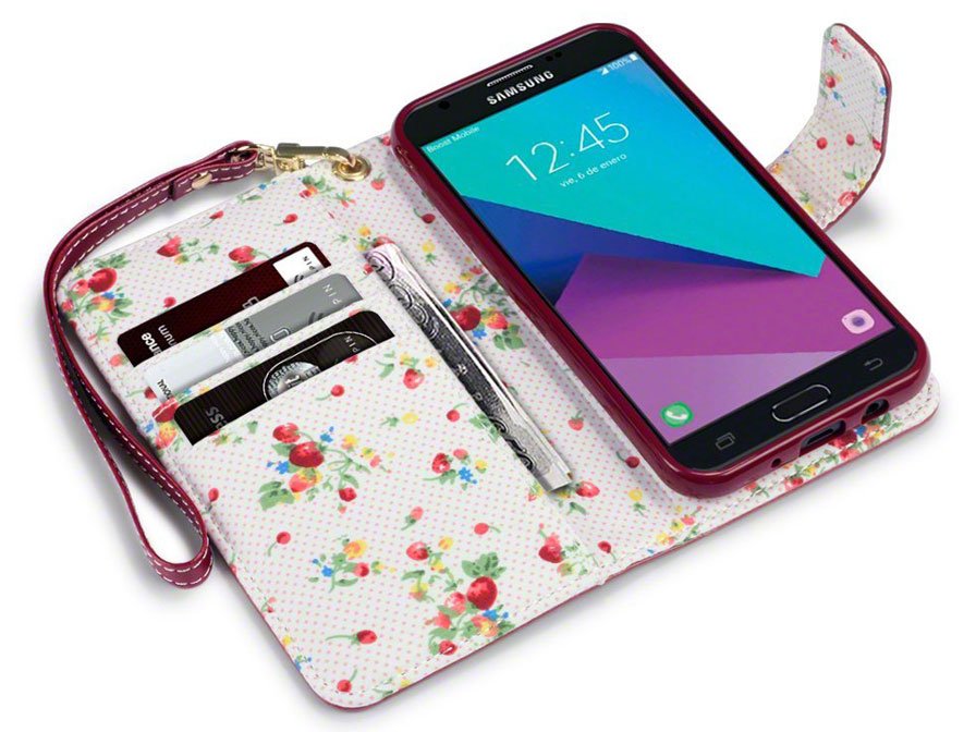 CaseBoutique Flower Book - Samsung Galaxy J3 2017 hoesje