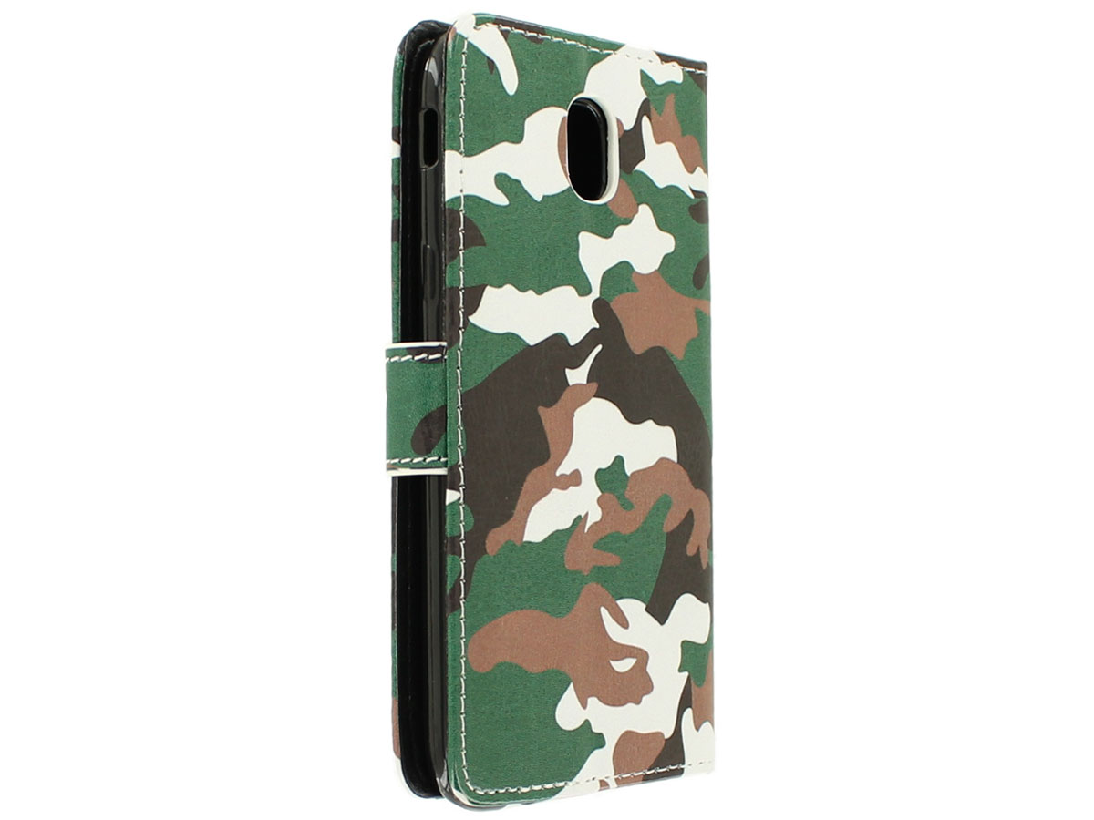 Camouflage Bookcase - Samsung Galaxy J3 2017 hoesje