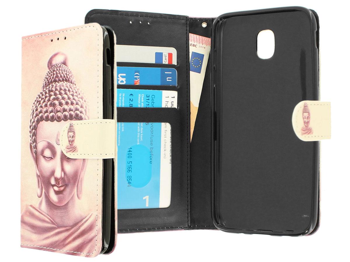 Boeddha Bookcase - Samsung Galaxy J5 2017 hoesje Goud