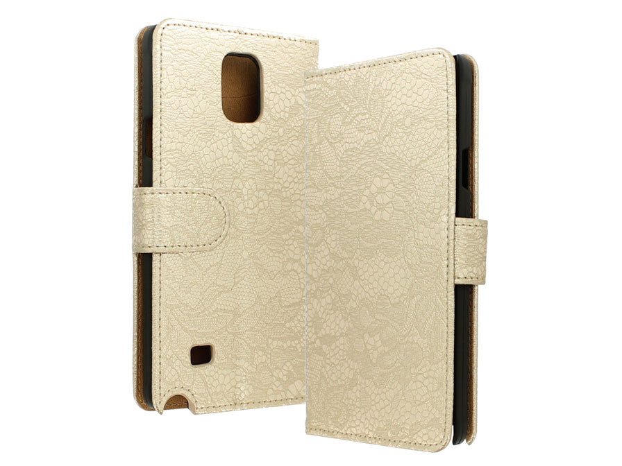 Lace Book Case - Hoesje voor Samsung Galaxy Note 4
