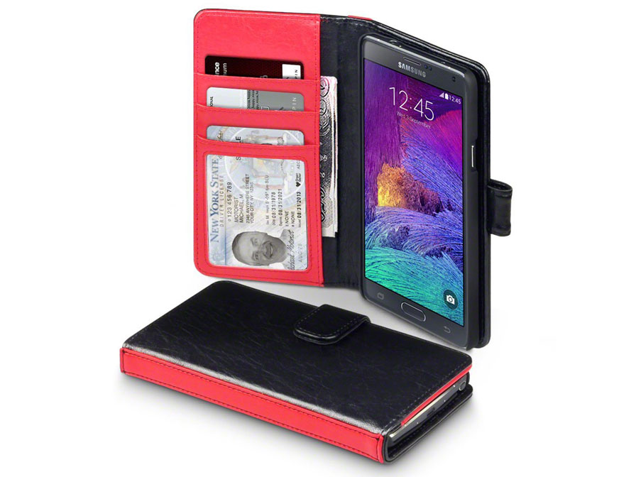 CaseBoutique Sterling Wallet Case met Stand - Samsung Galaxy Note 4 ho