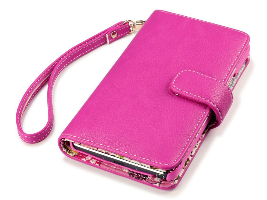 CaseBoutique Lily Wallet Case - Samsung Galaxy Note 4 Hoesje