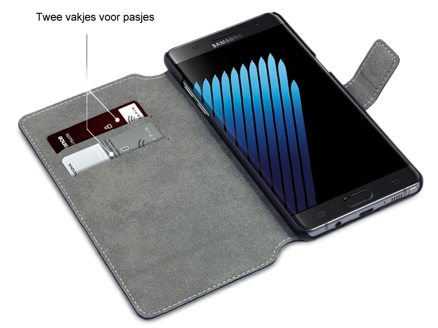 Covert Slimfit Bookcase - Samsung Galaxy Note 7 hoesje