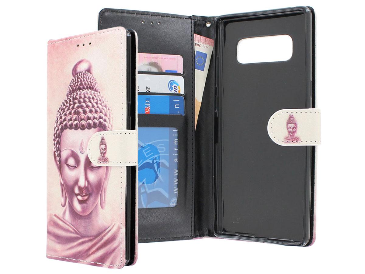 Boeddha Bookcase - Samsung Galaxy Note 8 hoesje Boeddha print