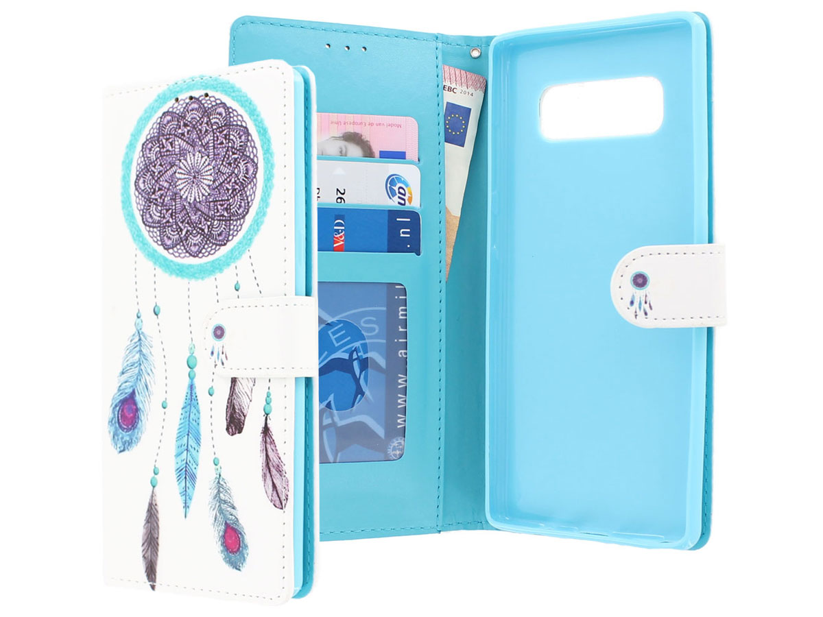 Dreamcatcher Bookcase - Samsung Galaxy Note 8 hoesje