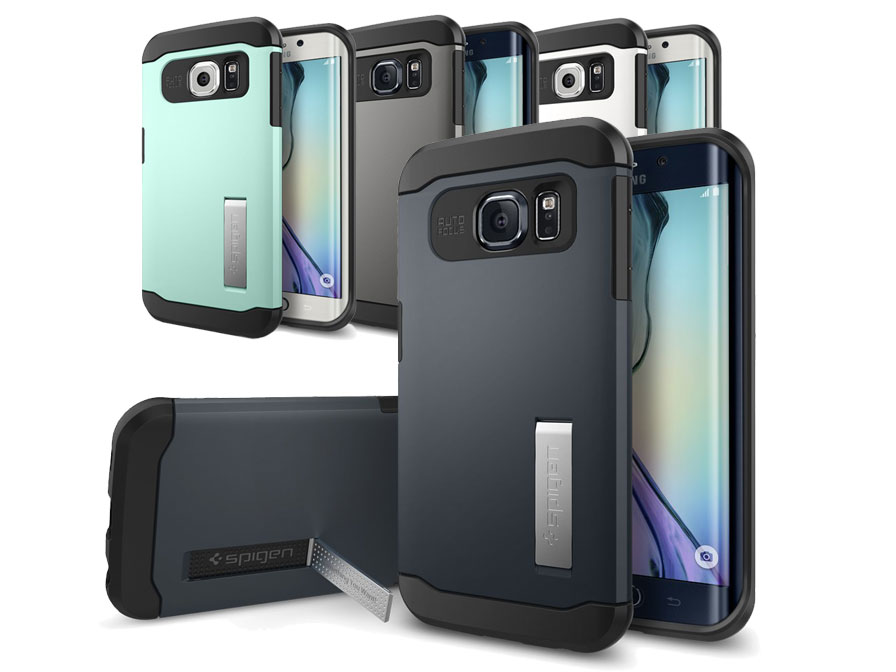 Spigen Slim Armor Case Rugged Samsung Galaxy S6 Edge Hoesje