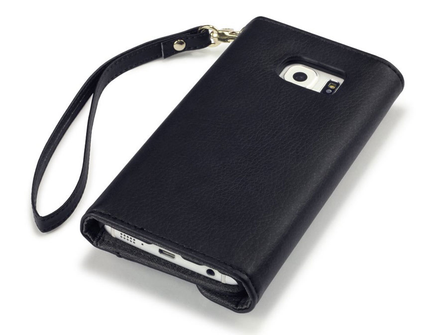 Covert Studded Trifold Wallet Case - Samsung Galaxy S6 Edge hoesje