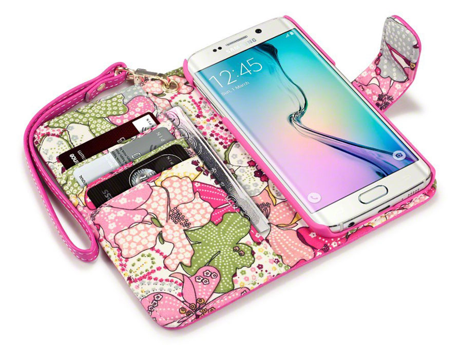CaseBoutique Lily Wallet Case - Samsung Galaxy S6 Edge hoesje