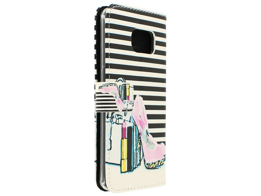 Fashion Bookcase - Samsung Galaxy S6 Edge hoesje