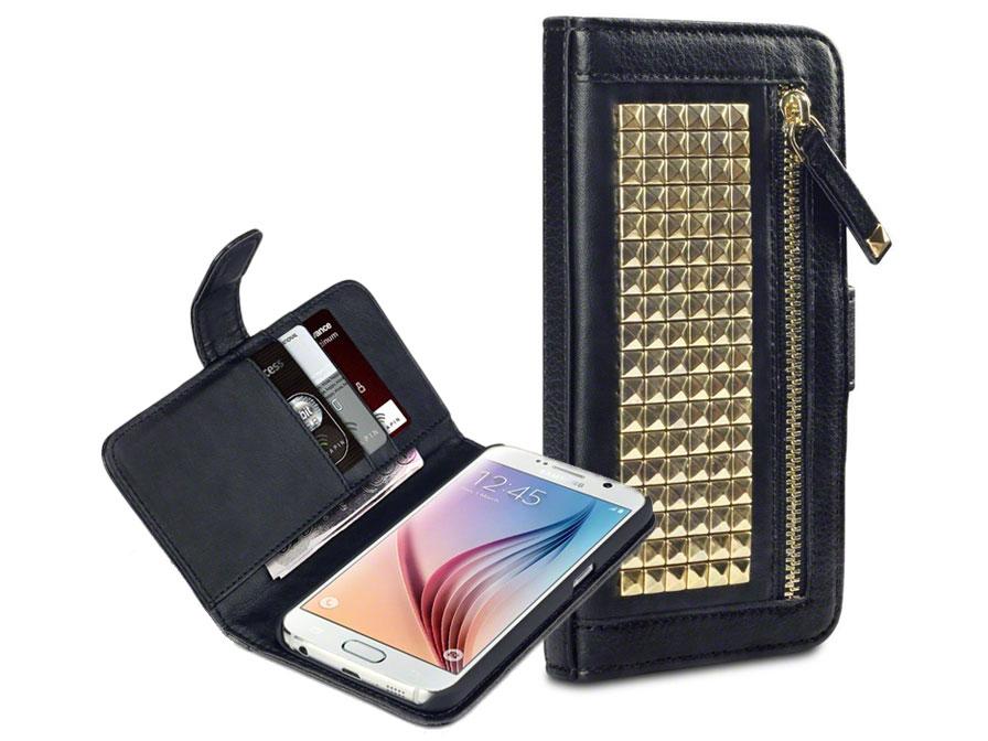 covert roxie studded wallet case   samsung galaxy s6 hoesje