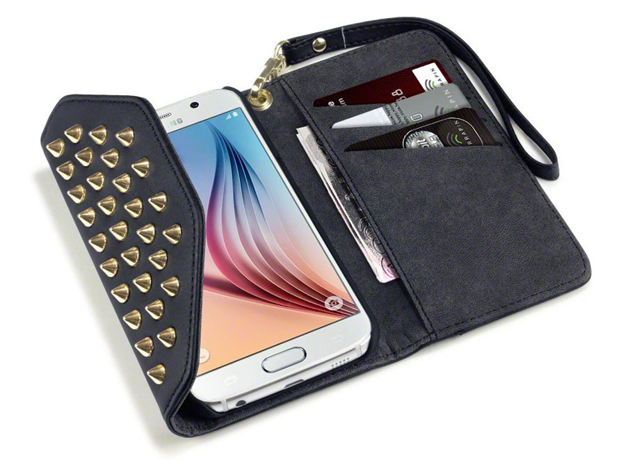 Covert Studded Trifold Wallet Case - Hoesje voor Samsung Galaxy S6