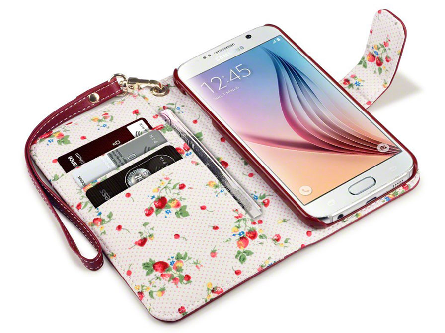 CaseBoutique Flower Wallet Case - Hoesje voor Samsung Galaxy S6