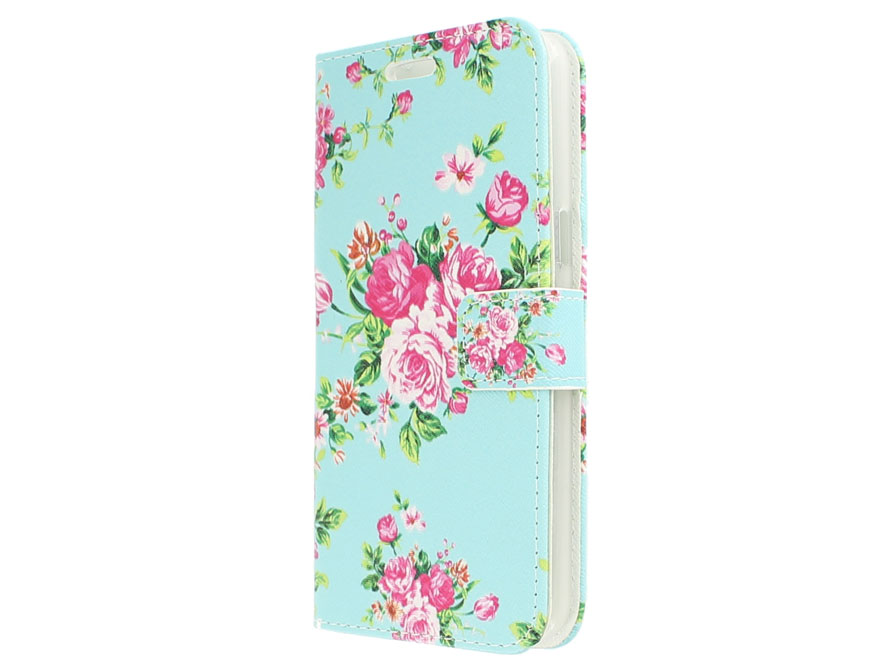 Flower Book Case Hoesje voor Samsung Galaxy S6