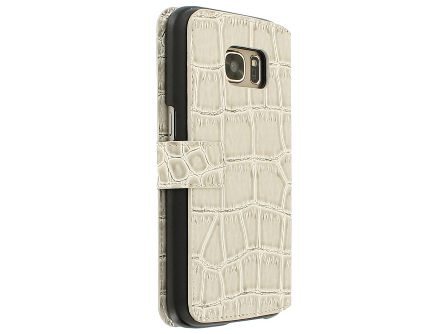 Guess Croco Folio - Samsung Galaxy S7 Edge hoesje