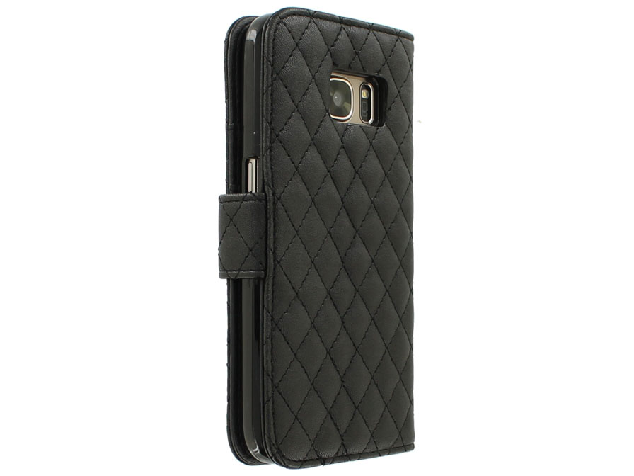 Diamond Stitch Bookcase - Samsung Galaxy S7 hoesje
