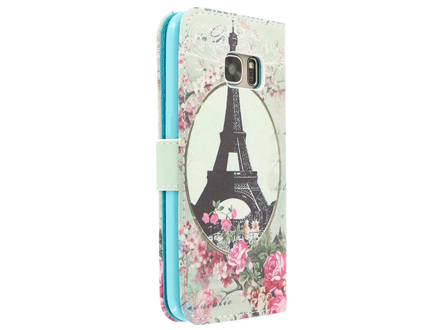 Retro Paris Bookcase - Samsung Galaxy S7 hoesje