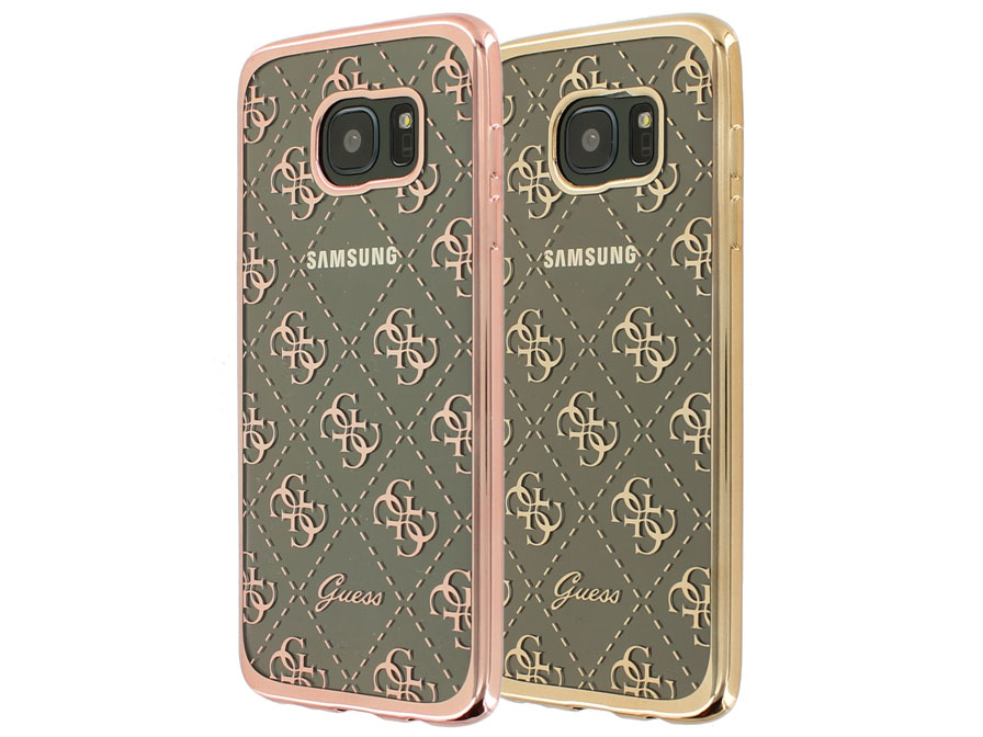 Guess Monogram TPU Case - Samsung Galaxy S7 Edge hoesje