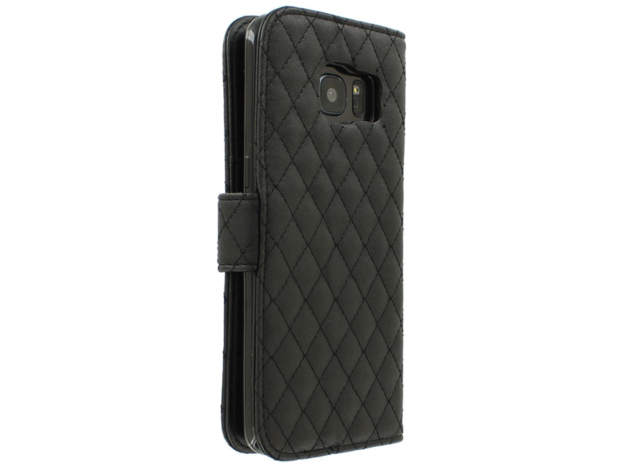 Diamond Stitch Bookcase - Samsung Galaxy S7 Edge hoesje