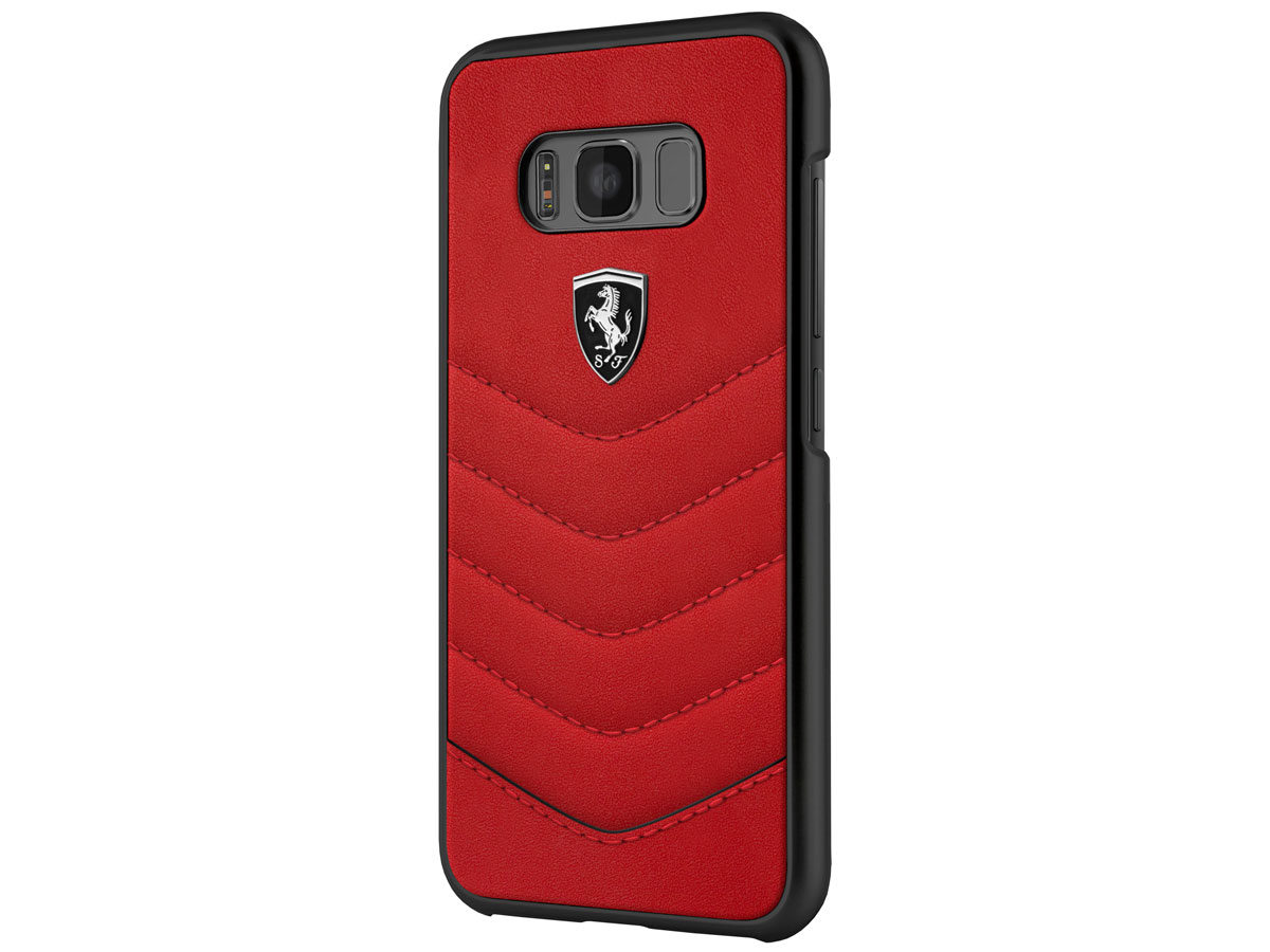 Ferrari Leather Hard Case - Samsung Galaxy S8 hoesje
