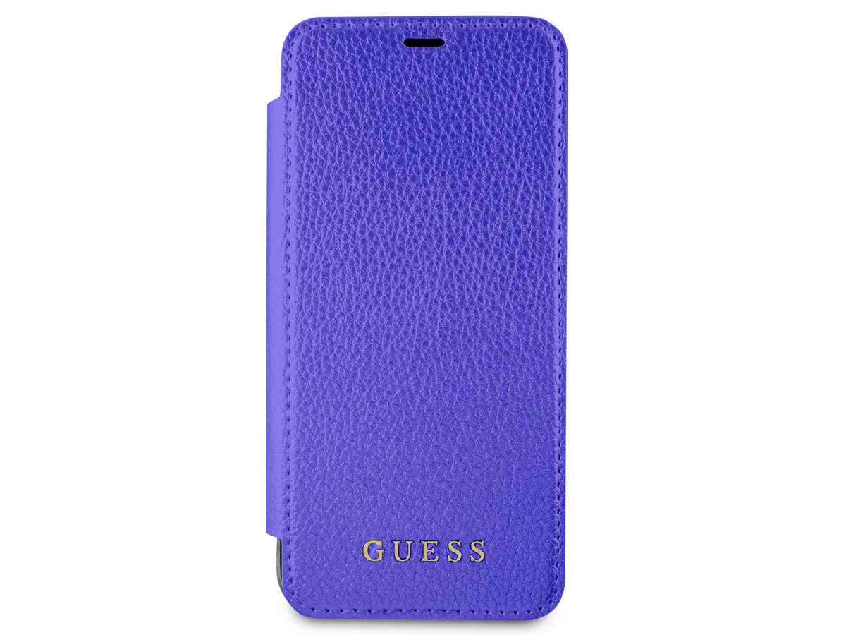 Guess Iridescent Bookcase Blauw - Galaxy S8 hoesje