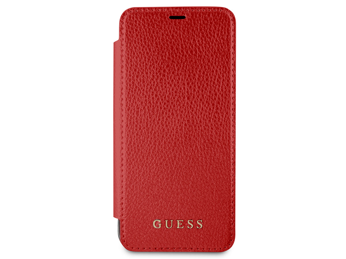 Guess Iridescent Bookcase Rood - Galaxy S8 hoesje